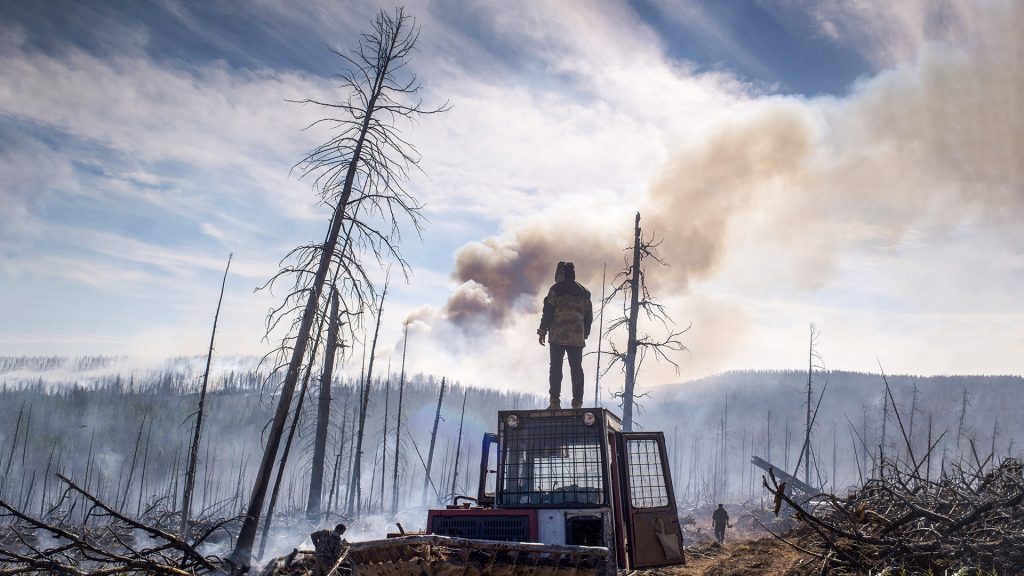 Le terribili foto dell'Incendio in Siberia