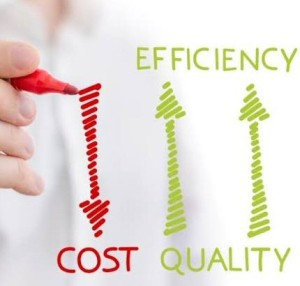 efficiency and quality vs cost!